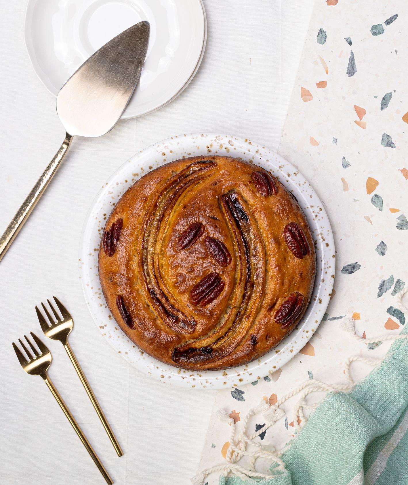 Jak zrobić wegańskie ciasto bananowe, pomysł na wegańskie ciasto, ciasta MUUS (fot. Paulina Czyżewska)