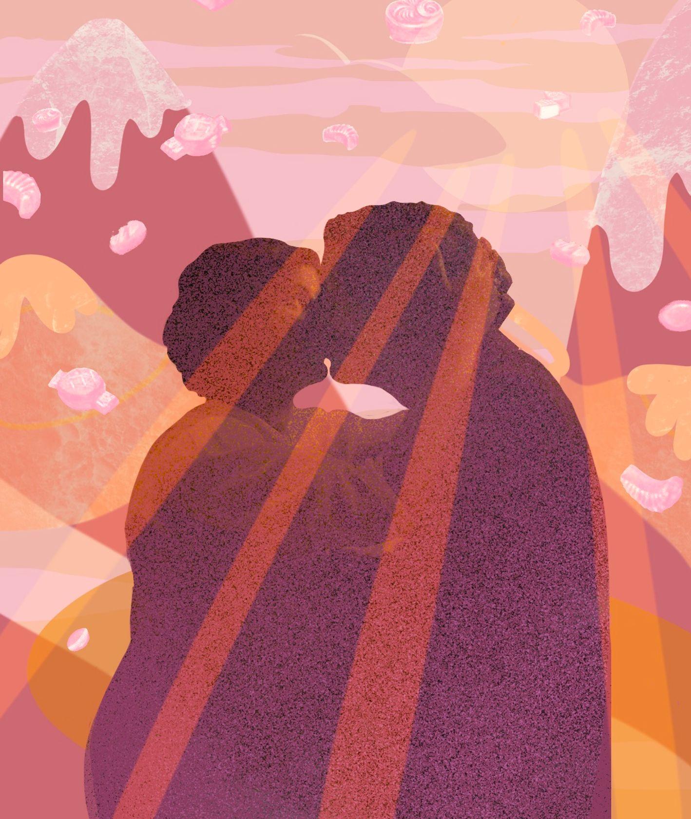 Zakochani na tle gór i czekoladek (il. Martyna Cybuch)