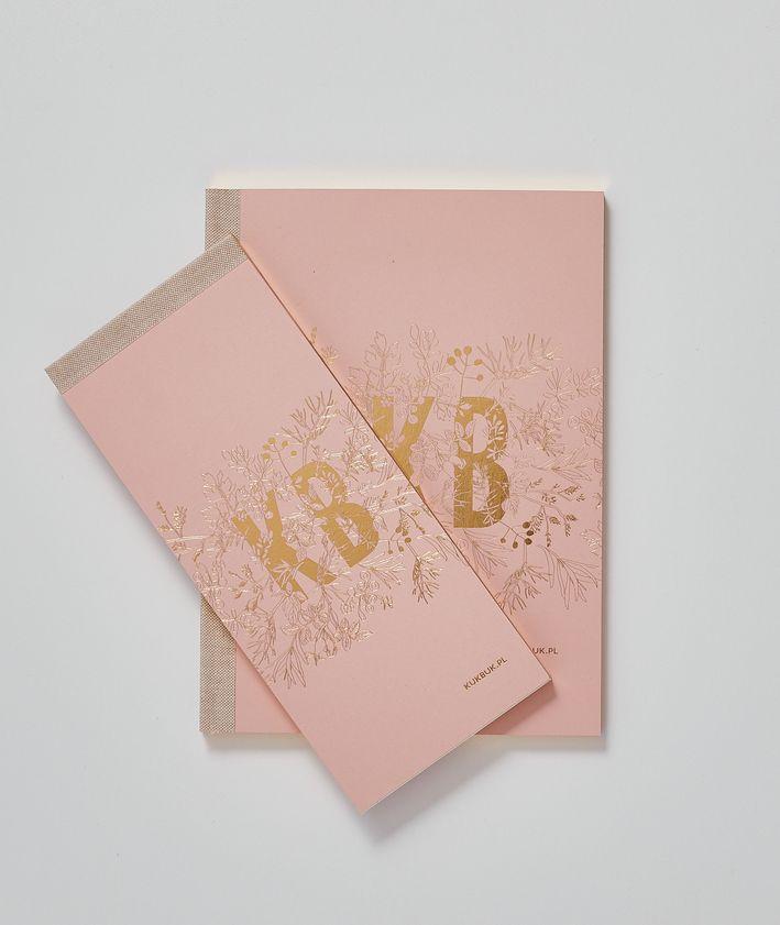 Pakiet notatników KUKBUK-a notes plus organizer zestaw kolor pudrowy róż