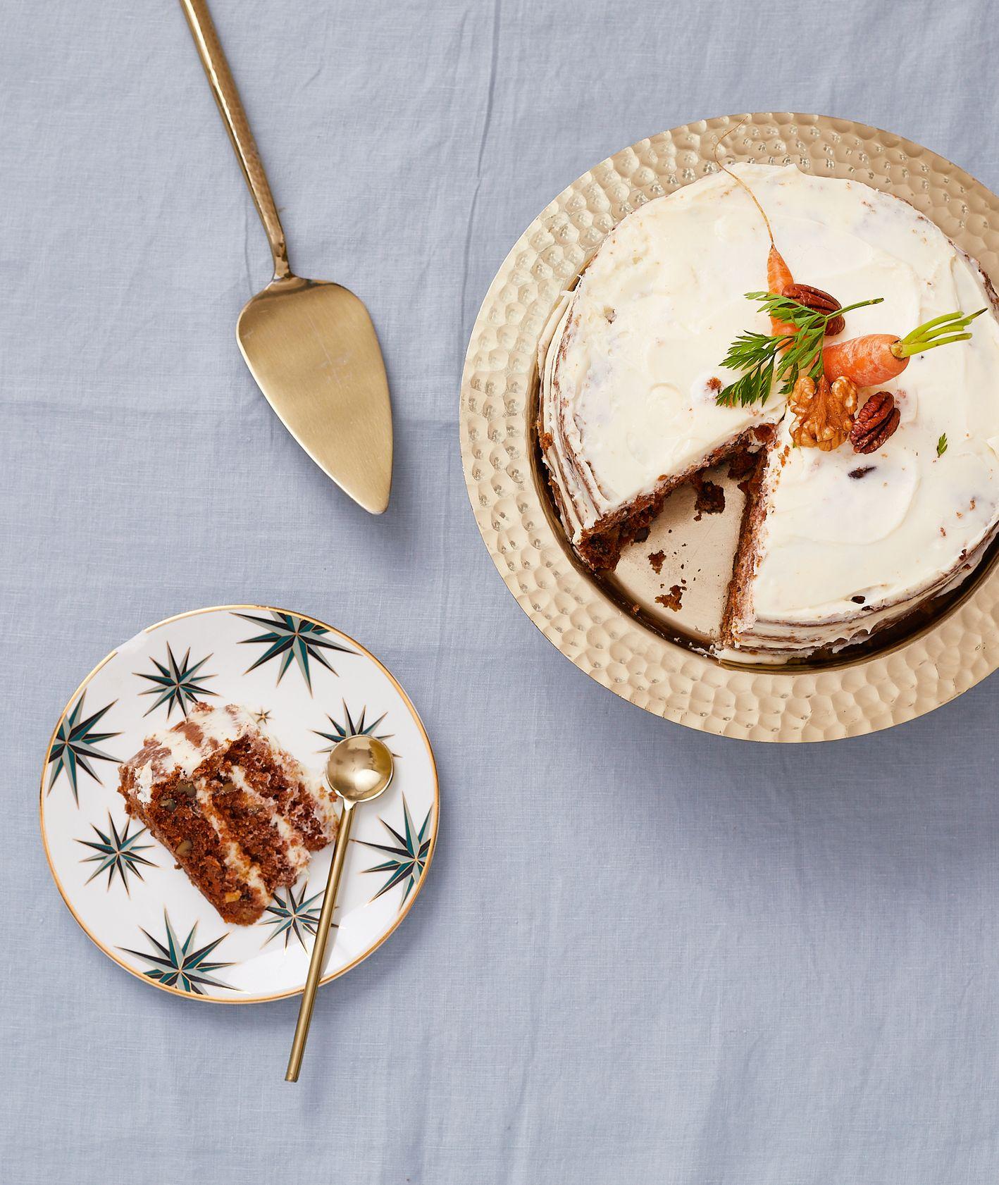 Ciasto marchewkowe z mascarpone według przepisu Farma Bii nasączone nalewką (fot. Maciek Niemojewski)