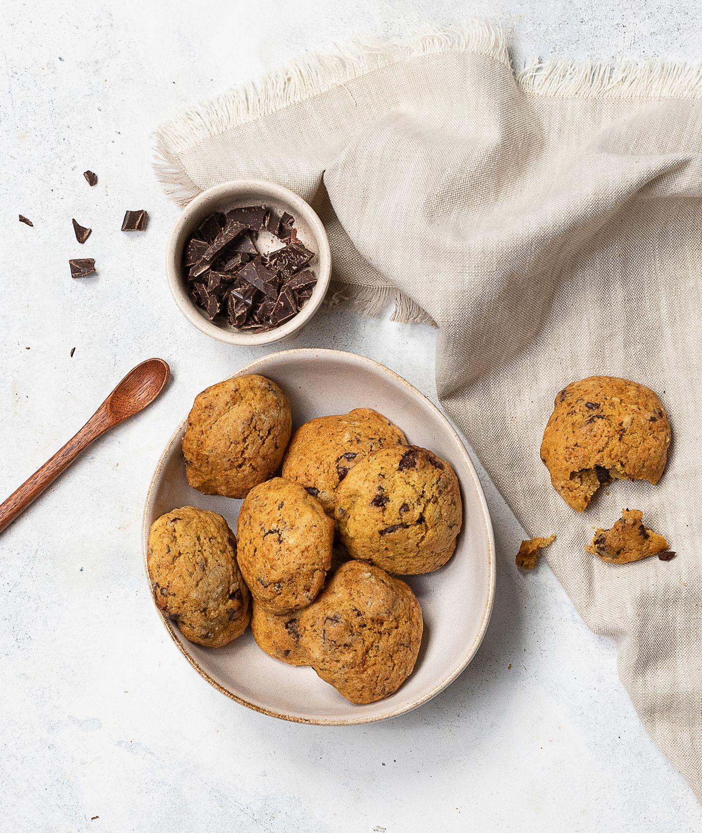 Jak zrobić ciastka dyniowe z czekoladą. Przepis na dyniowe ciasteczka z czekoladą (fot. Paulina Czyżewska)