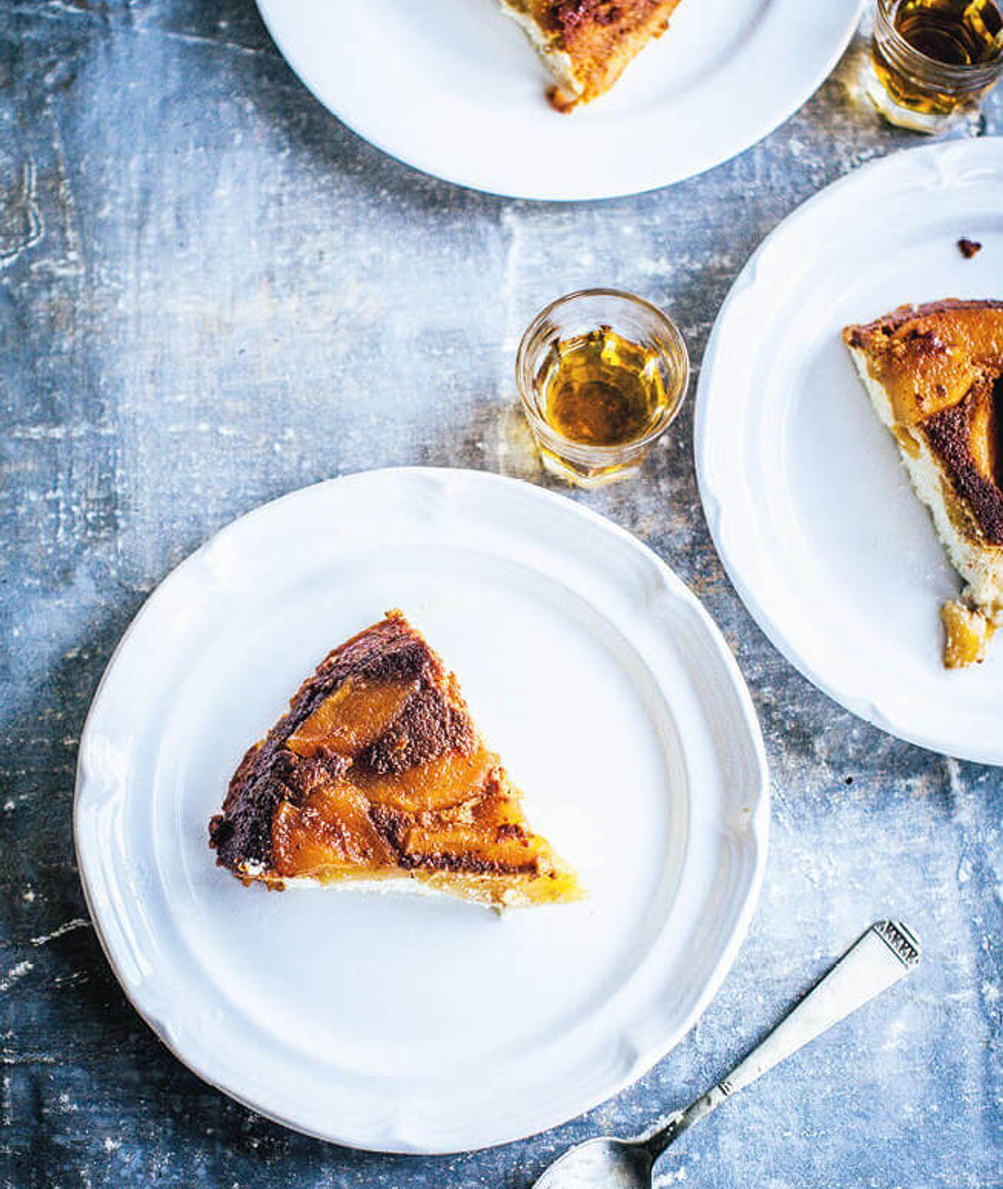 pieczona ricotta, sernik z ricotty, ciasto z jabłkami, szybkie ciasto z jabłkami, sernik, ciasto z alkoholem, ciasto na niedzielę, pieczona ricotta z jabłkami, szybki deser