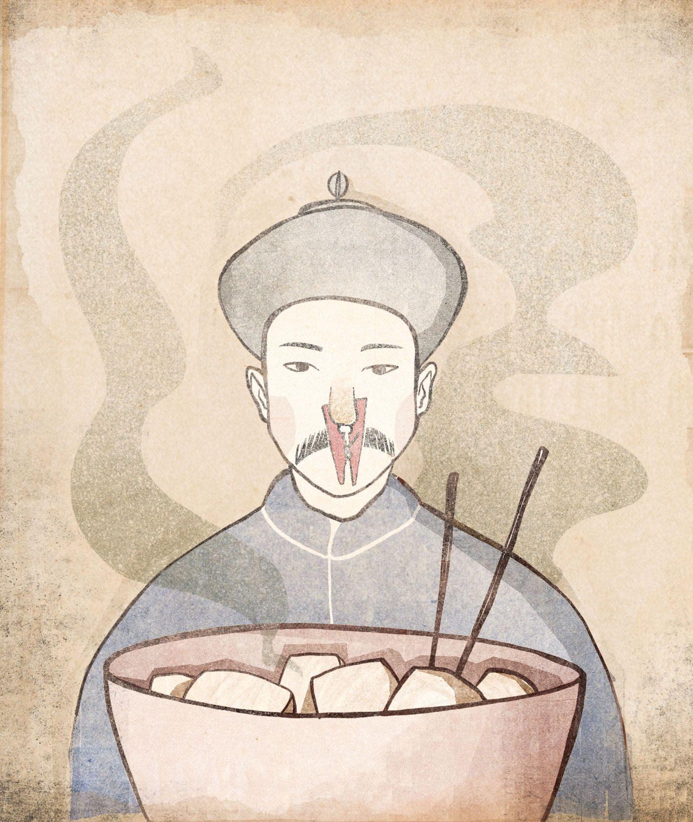 Miska fermentowanego tofu z pałeczkami (il. Ula Mierzwa)