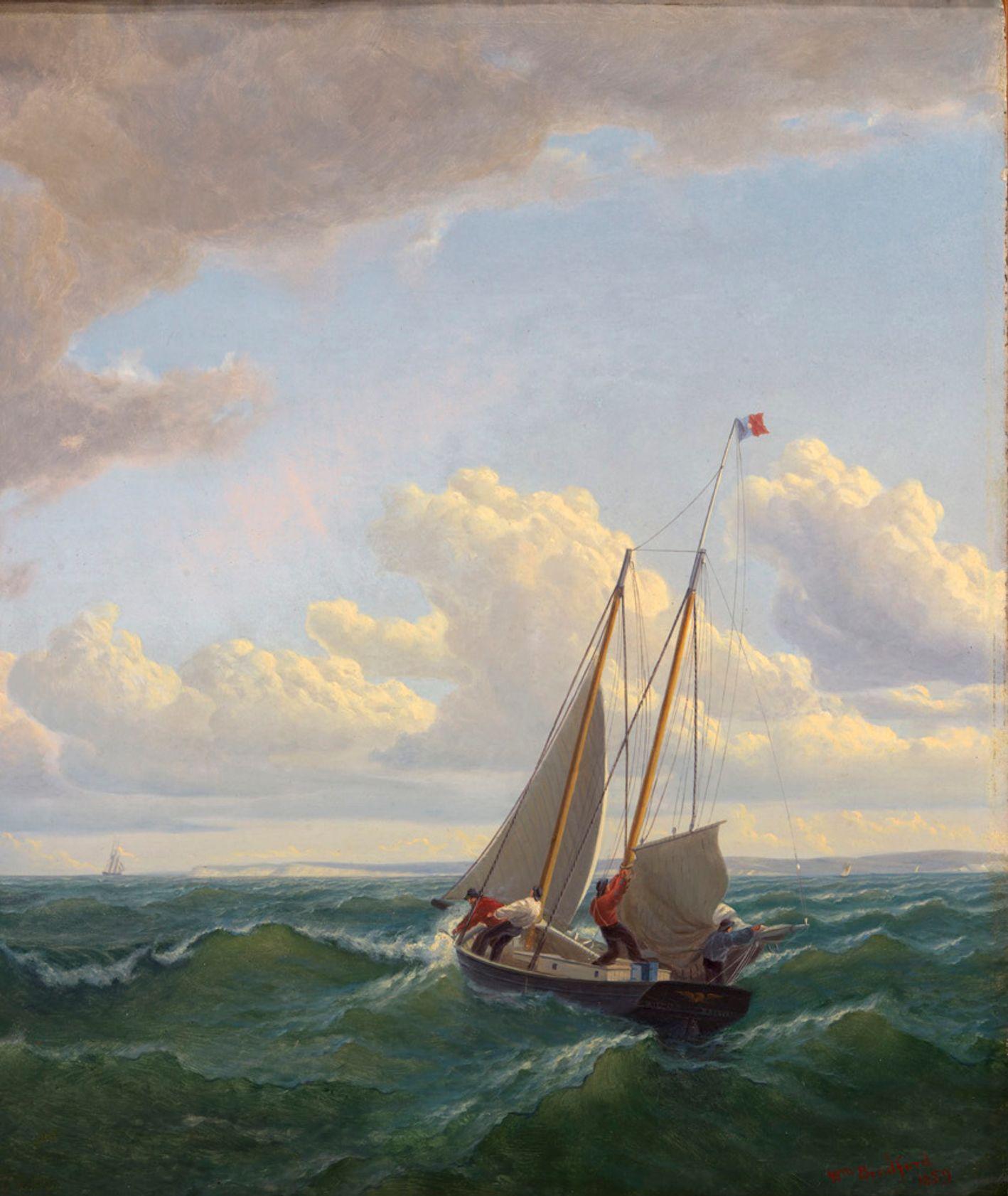 Whaler off the Vineyard–Outward Bound, obraz Williama Bradforda, 1859, Smithsonian American Art Museum, Museum purchase