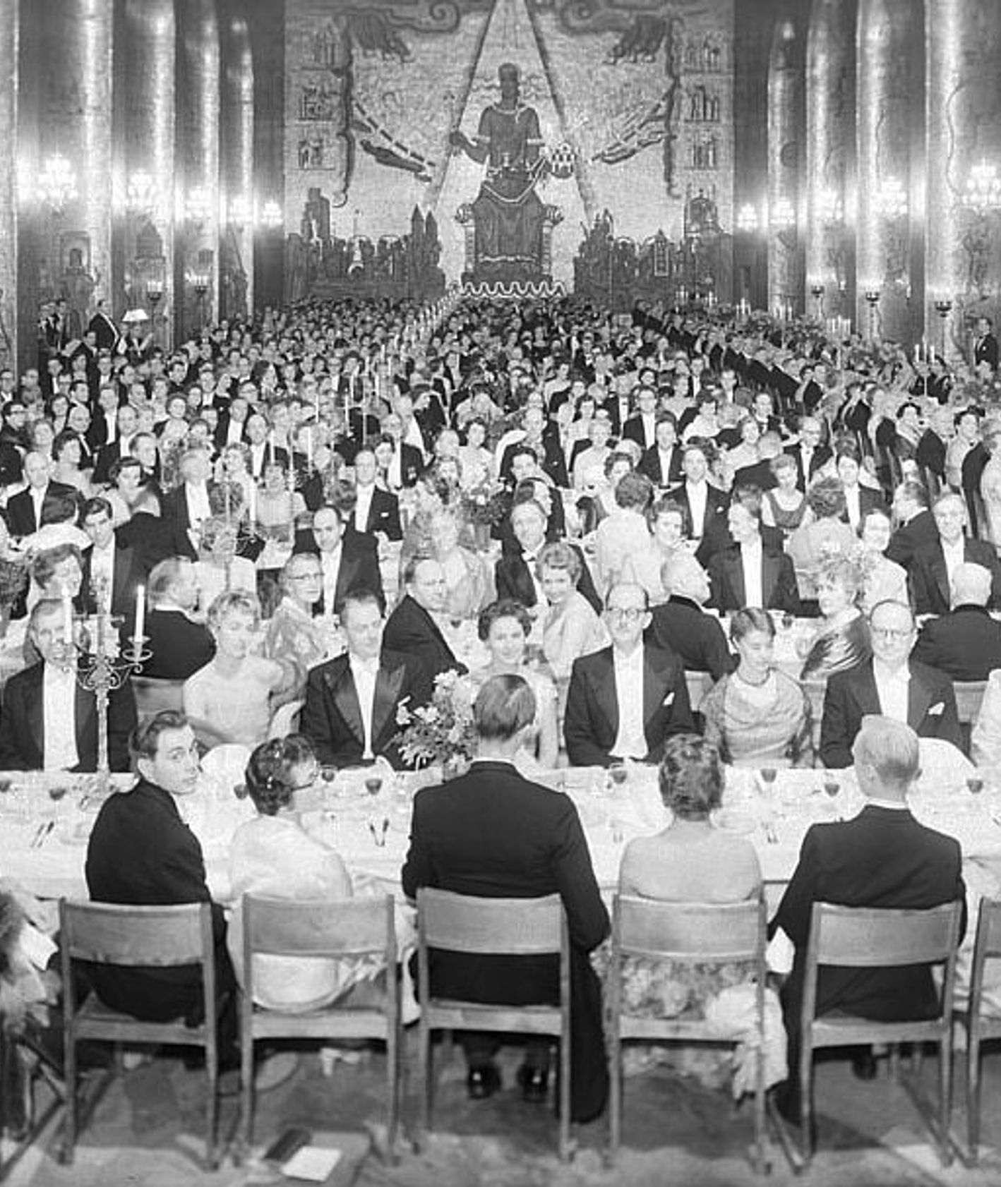 Bankiet noblowski w 1958 roku (fot. Brendler Åkerberg)