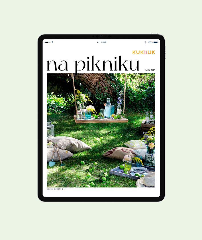 Ebook – Na pikniku, okładka, zdjęcie w ogrodzie