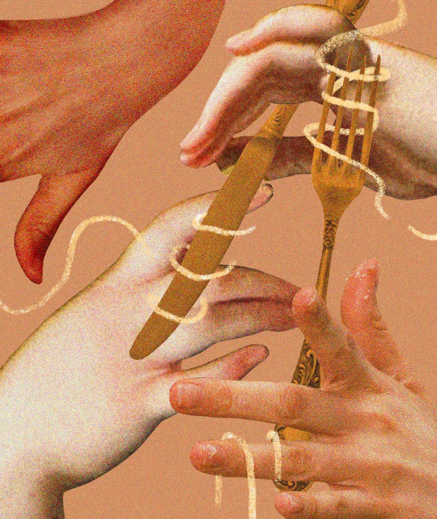 Ręce i palce jedzenie (il. Martyna Cybuch)