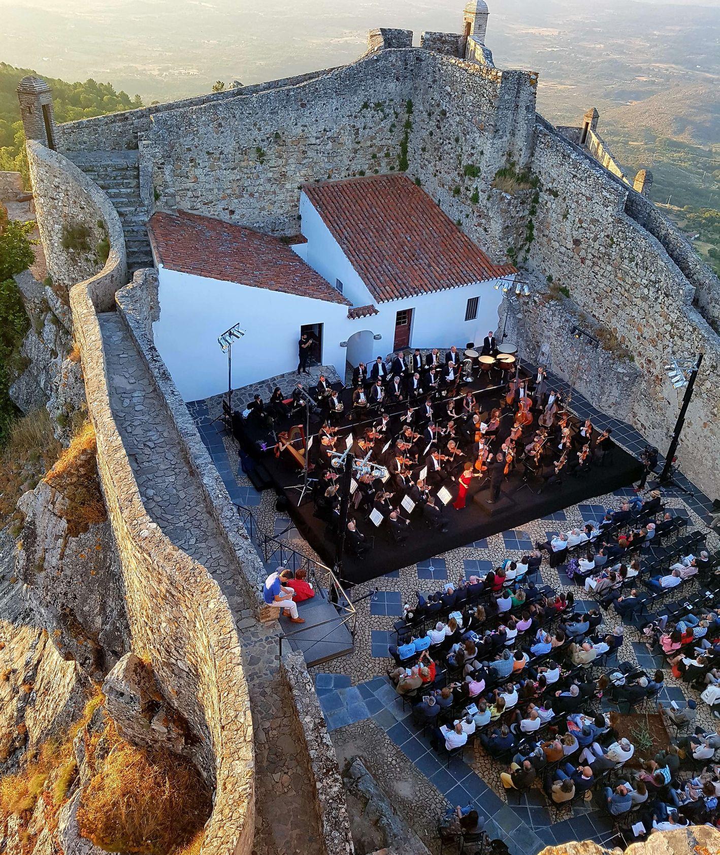 festiwal muzyki klasycznej w Marvão - koncert w starej twierdzy