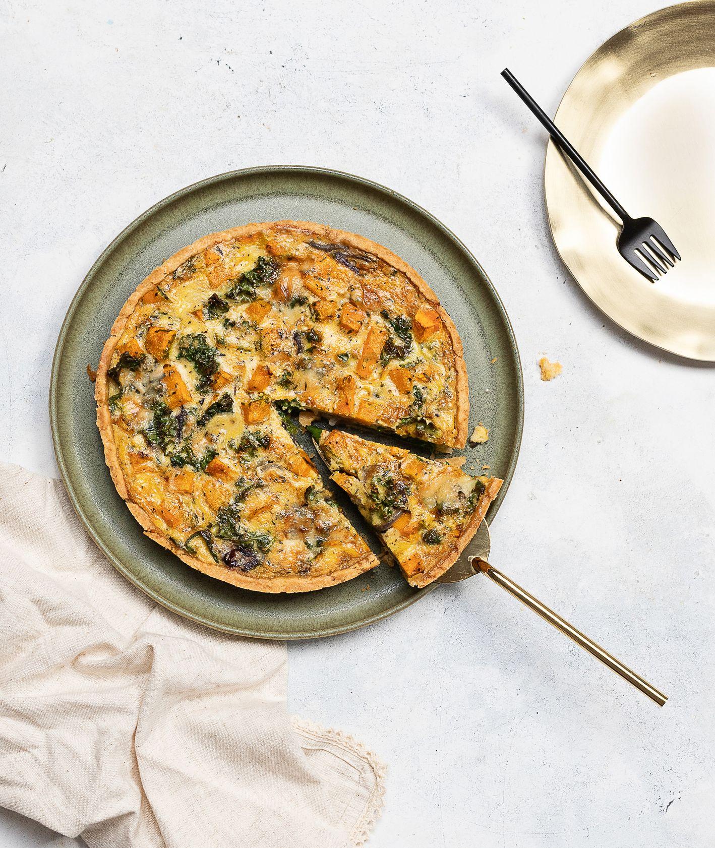 Jak przygotować tartę dyniową z gorgonzolą. Quiche dyniowy z gorgonzolą (fot. Paulina Czyżewska)