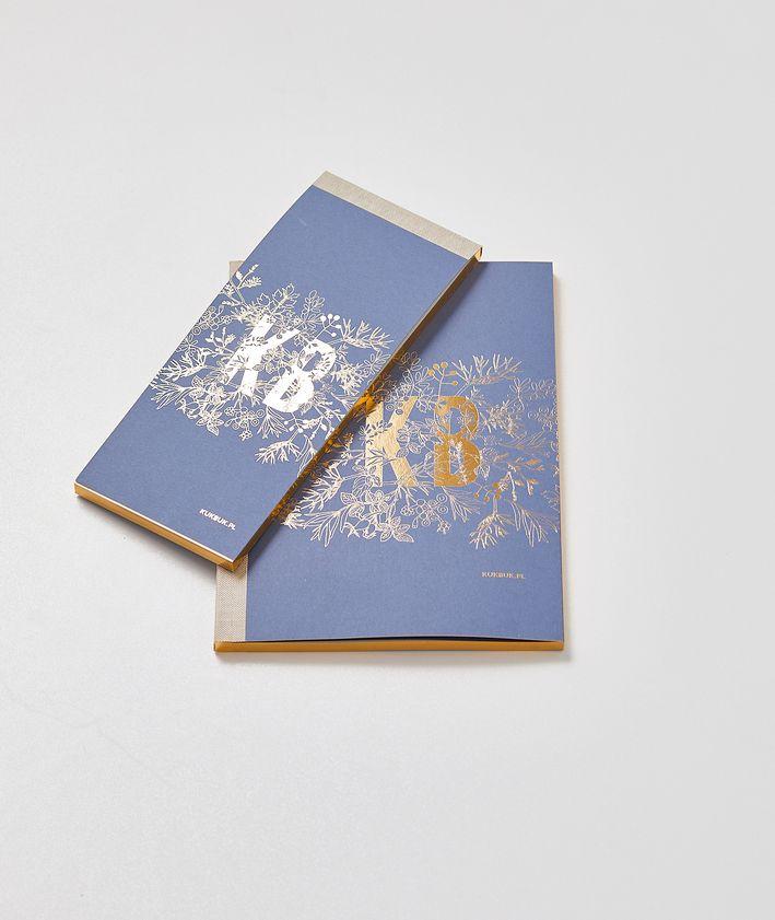 Zestaw notesów KUKBUK-a kolor granatowy złocone brzegi idealne do planowania notes + organizer