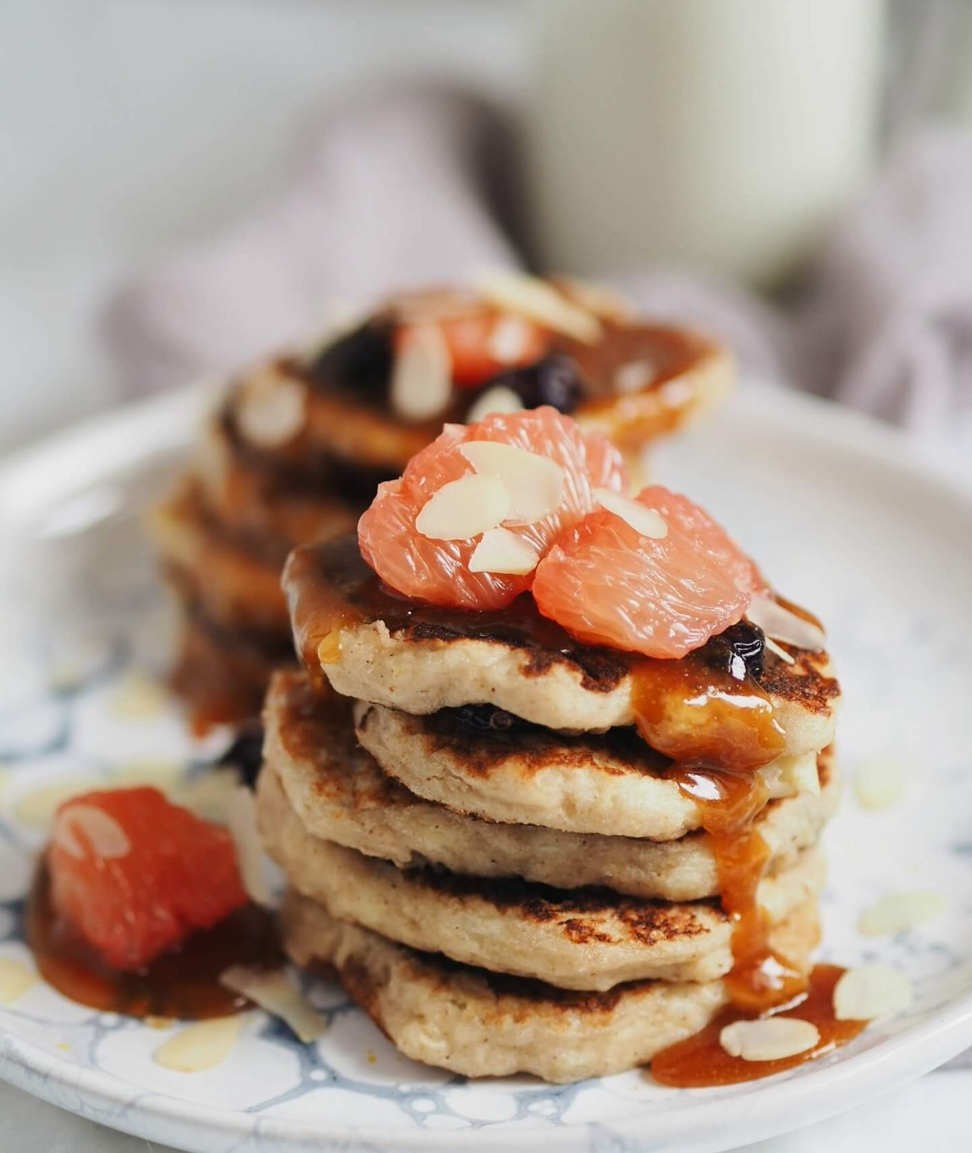 racuszki gryczane, placki bezglutenowe, pancakes, przepisy Jagłowska, wegańskie placki, wegańskie śniadanie