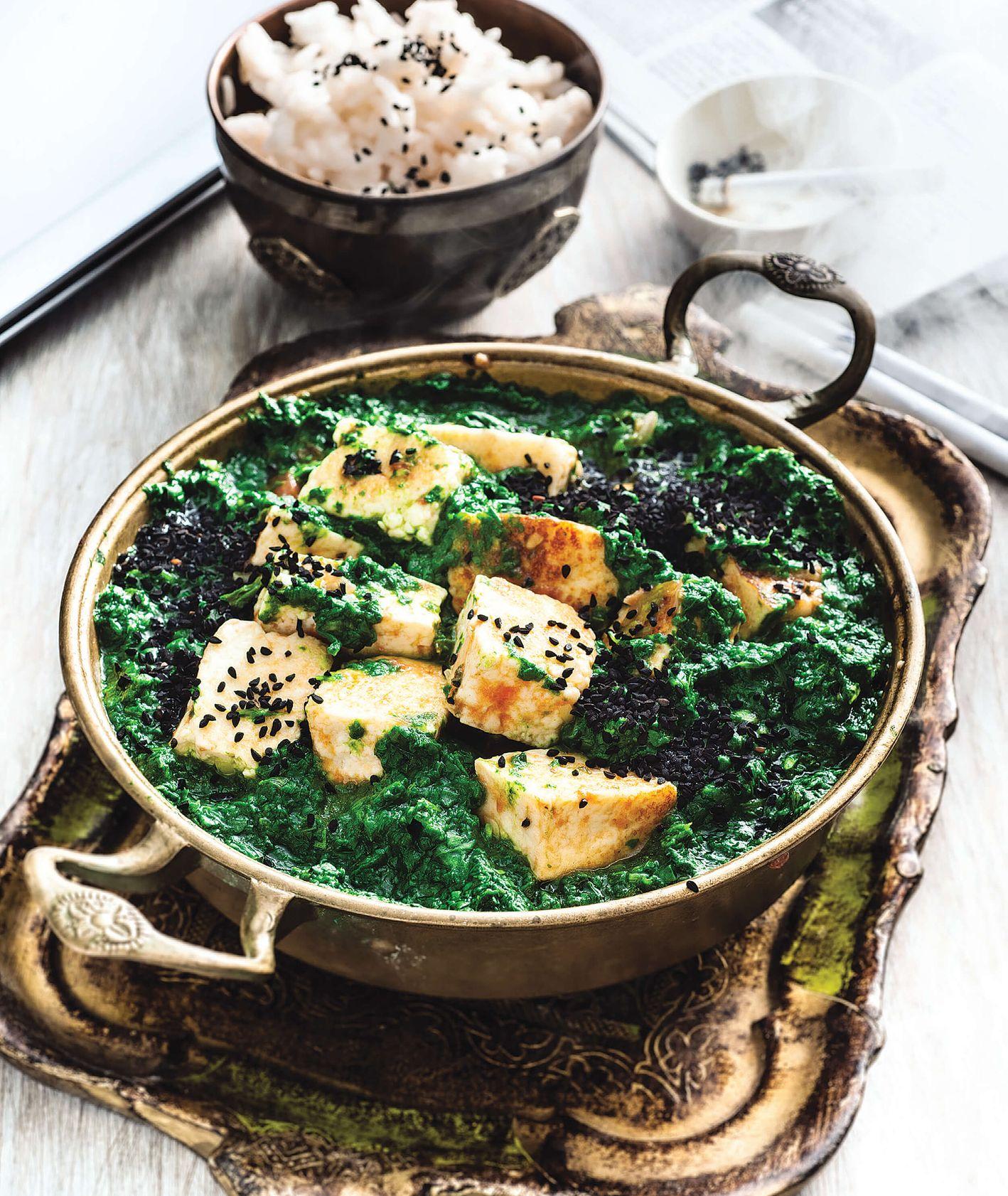 przepis na indyjskie danie ze szpinakiem i serem paneer - Przepis Vienio