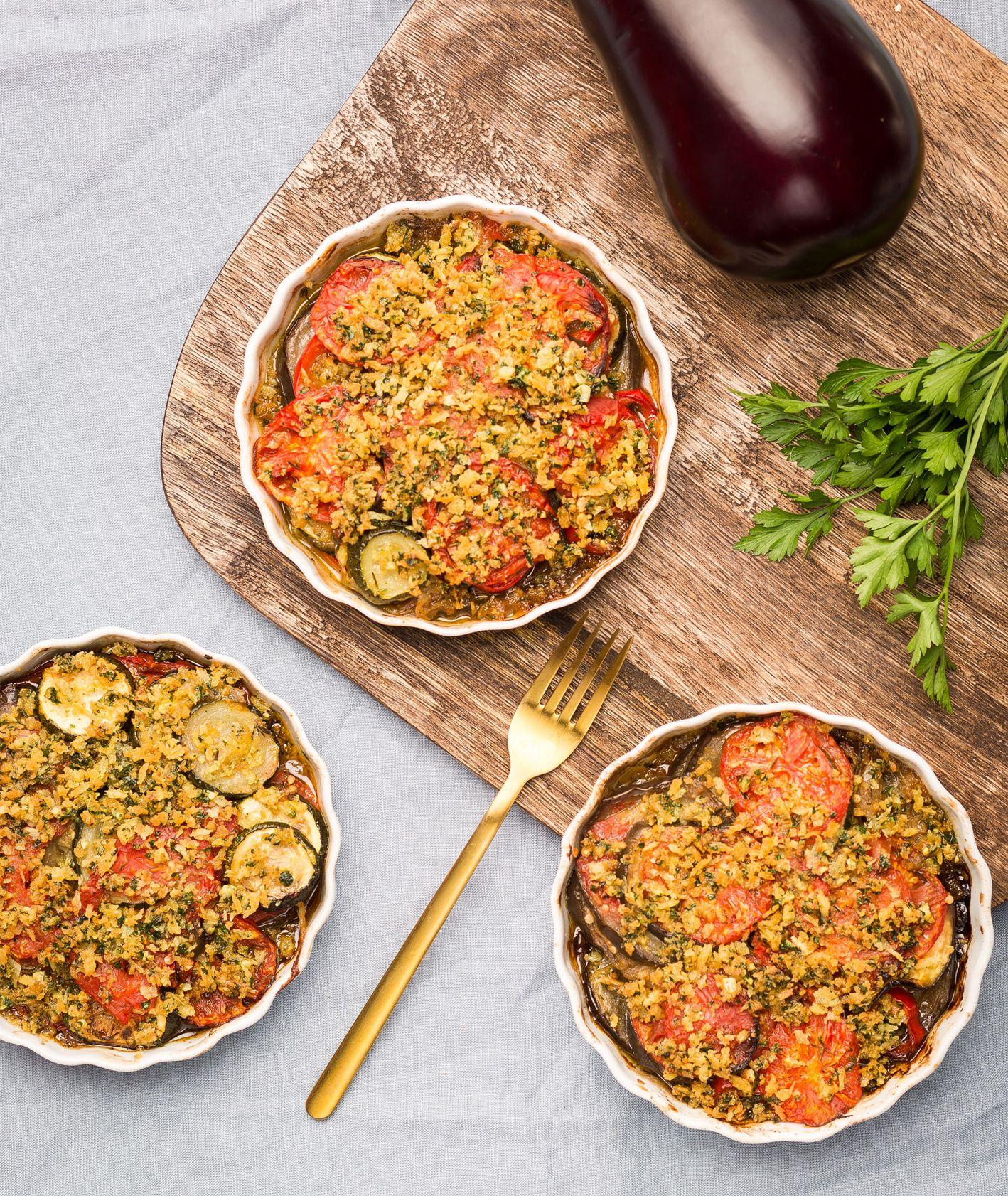 Tian – zapiekanka z bakłażanów i pomidorów. Danie z Targu Forteca Kręgliccy