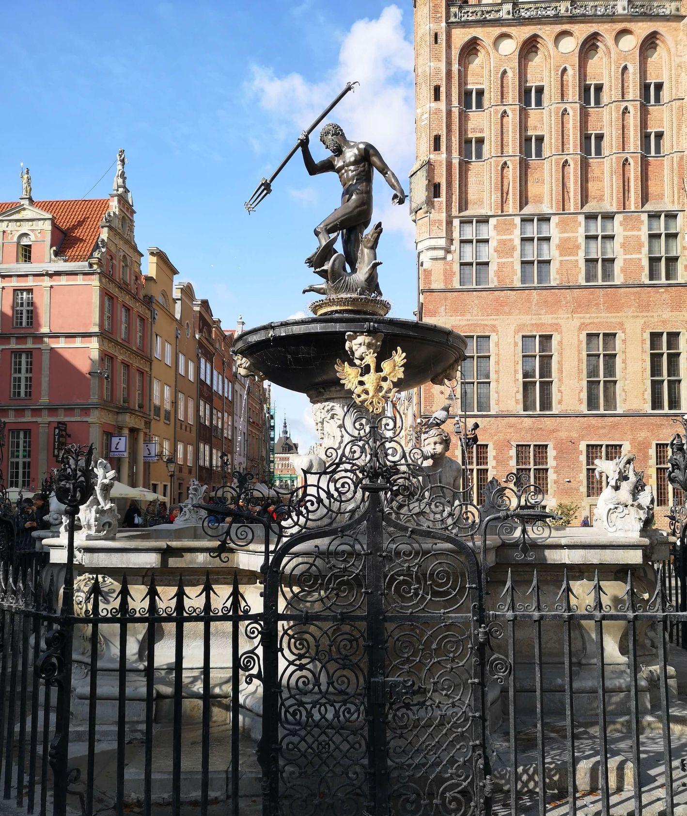 Posąg Posejdona w Gdańsku