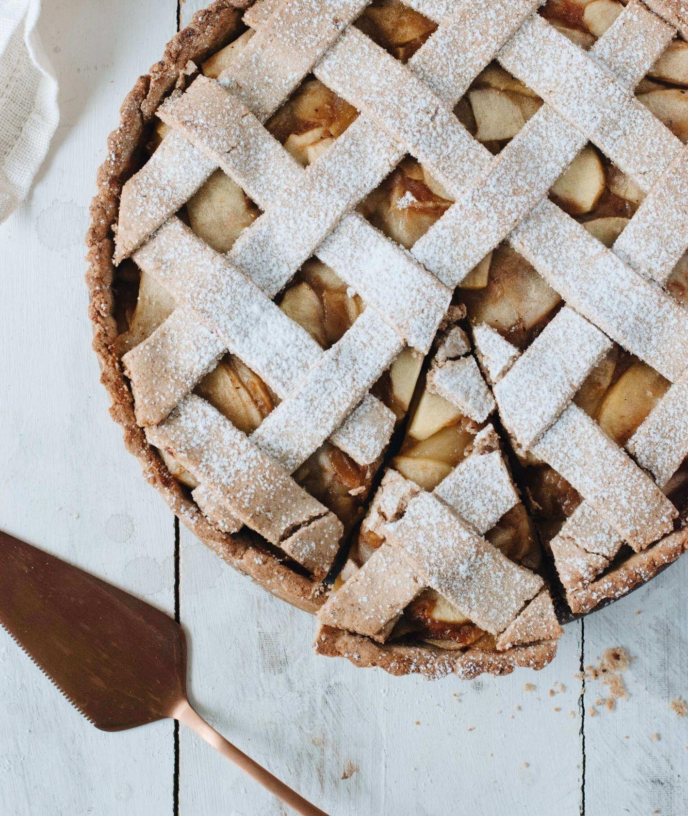 bezglutenowa szarlotka, ciasto bezglutenowe, ciasto z jabłkami, bezglutenowy jabłecznik, przepis Lisia Kawiarenka
