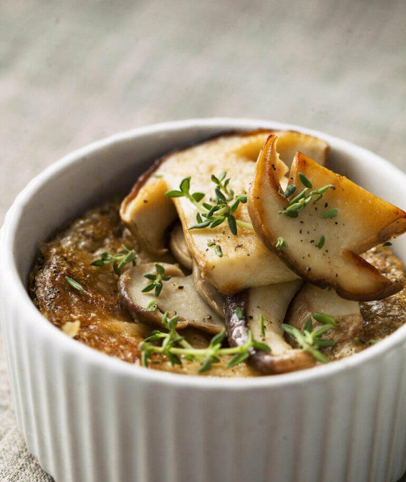 grzybowe creme brulee, wytrawne creme brûlée, kuchnia francuska, creme brulee, grzyby, co z grzybów, danie z grzybami, obiad z grzybami, przekąski na przyjęcie
