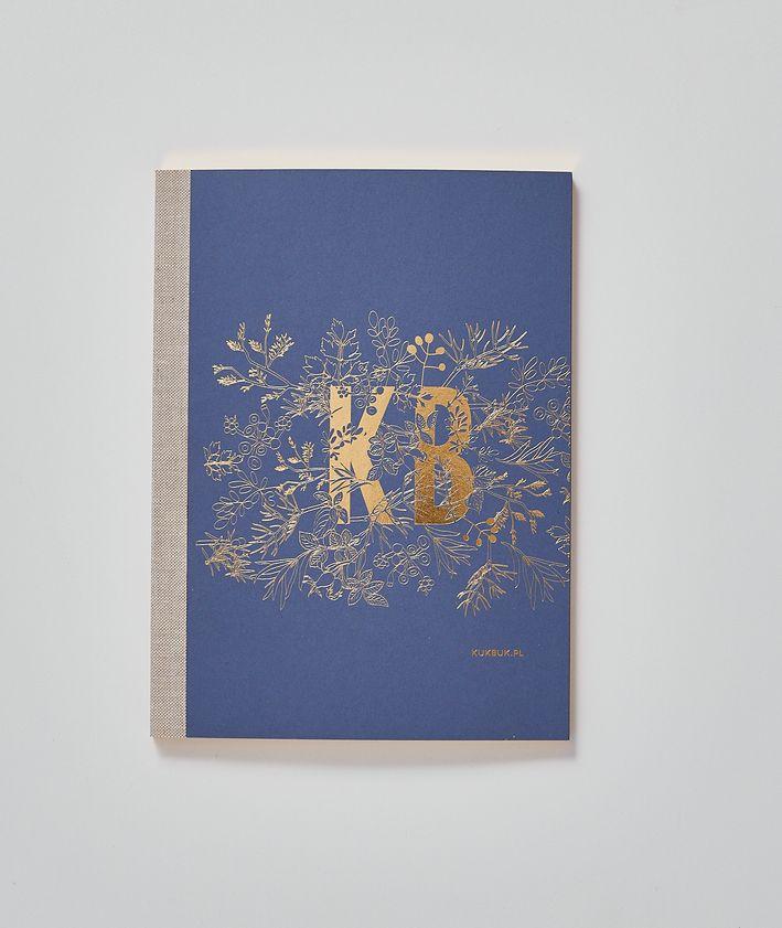 Nowy notes kUKBUK-a ze złoconymi brzegami kolor granatowy do notowania, planowania, rysowania