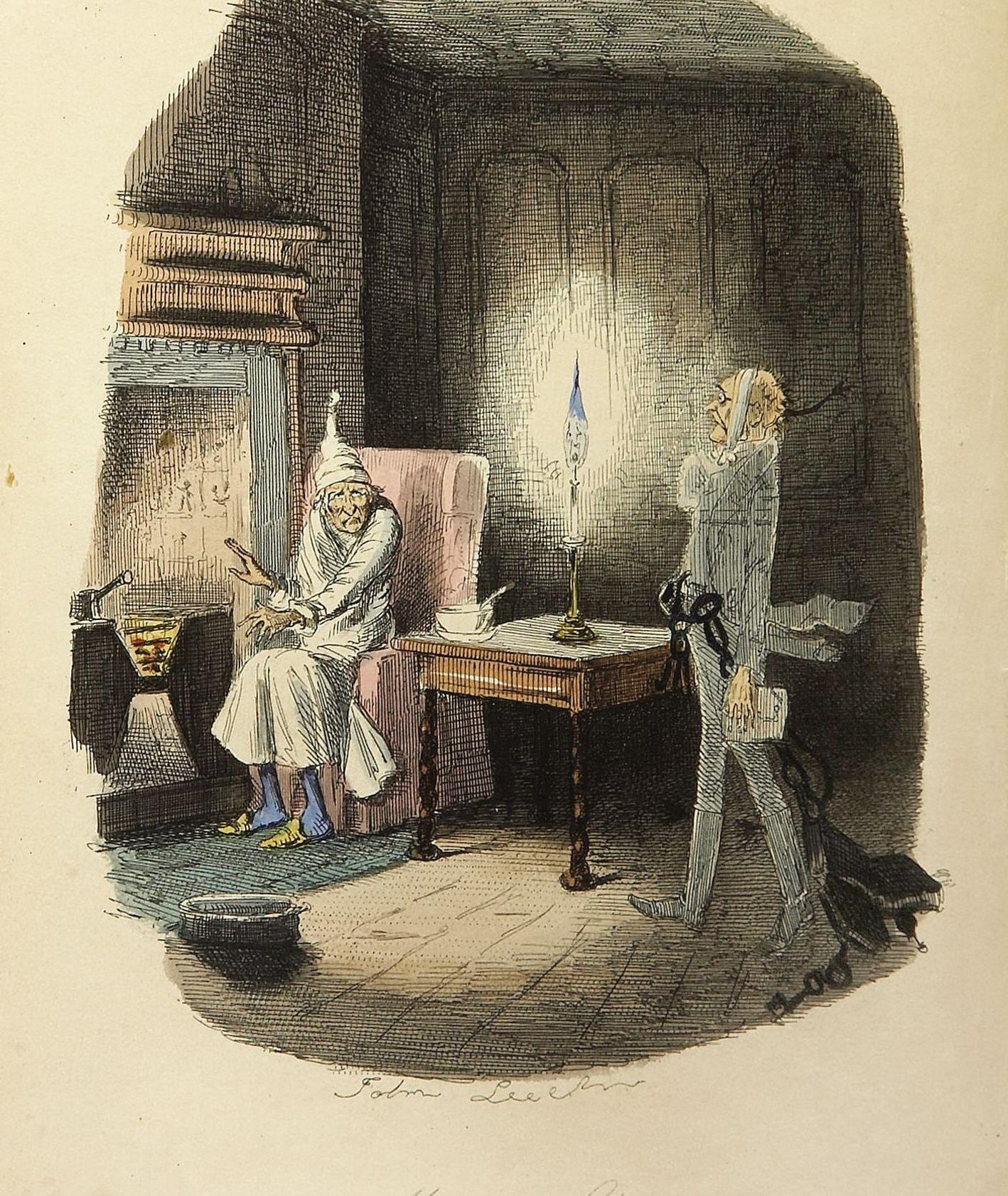 Opowieść Wigilijna, ilustracja John Leech