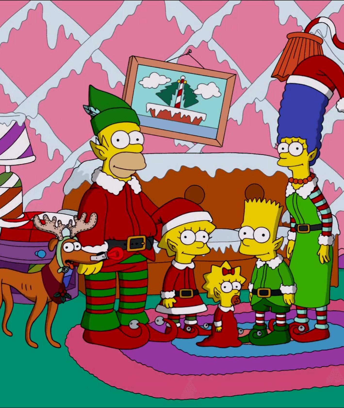 Rodzina Simsonów w świątecznych strojach (fot. materiały prasowe)