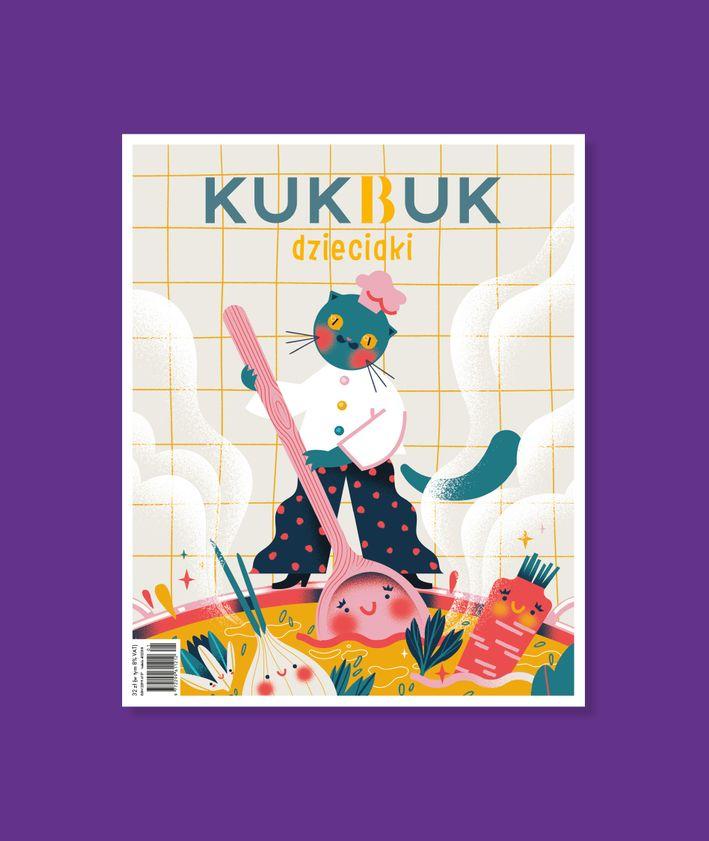 KUKBUK Dzieciaki 2021 – okładka najnowszego wydania magazynu kulinarnego dla dzieci