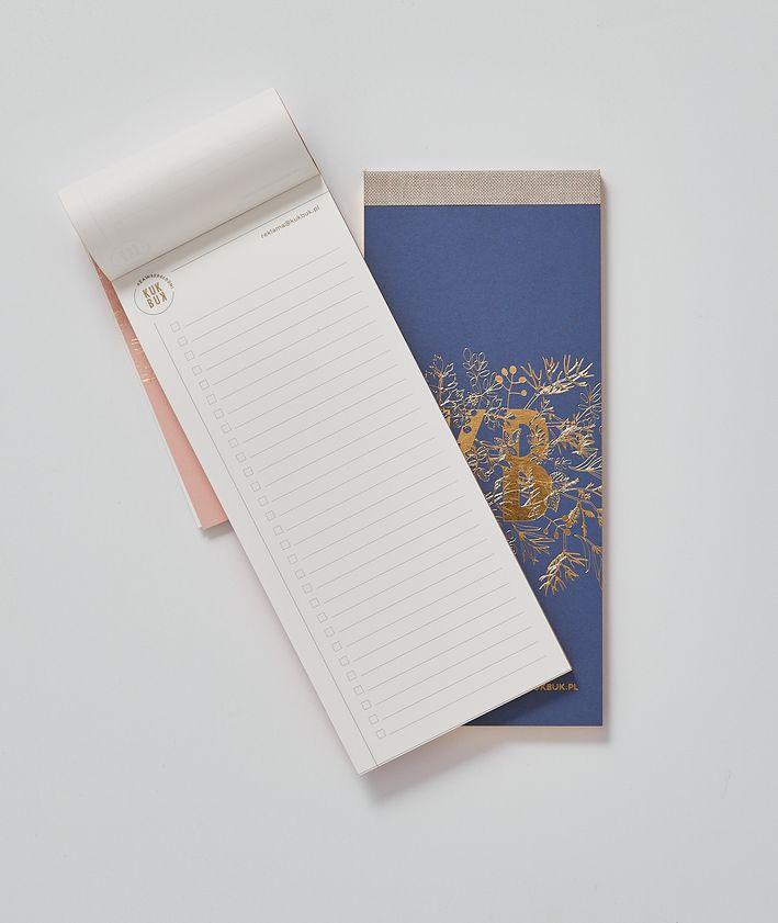 Orgainzer KUKBUK-a idealny do planowania ze złoconymi brzegami środek, kolor pudrowy róż