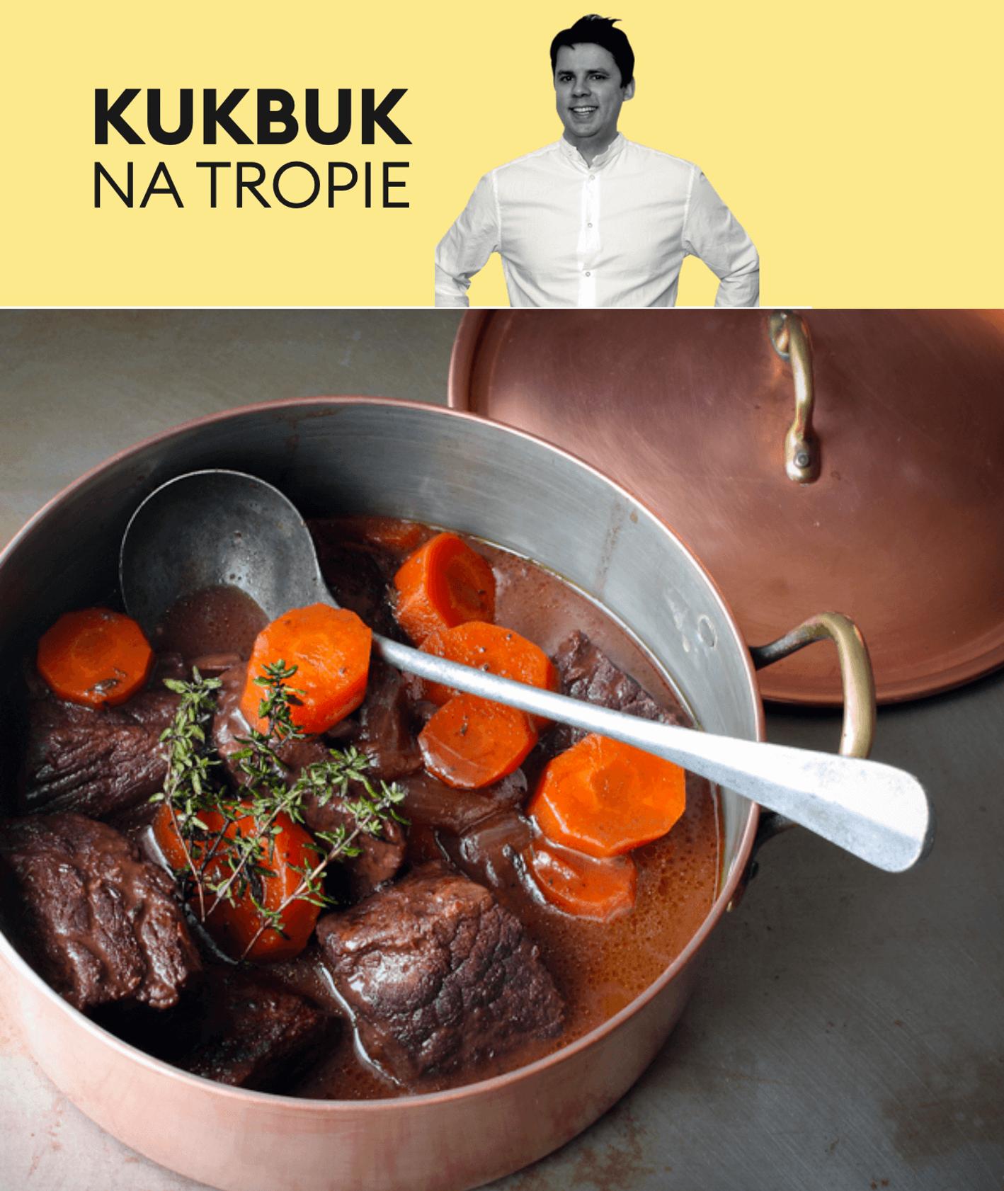 Tomek Zielke testuje przepis na wołowinę po Burgundzku