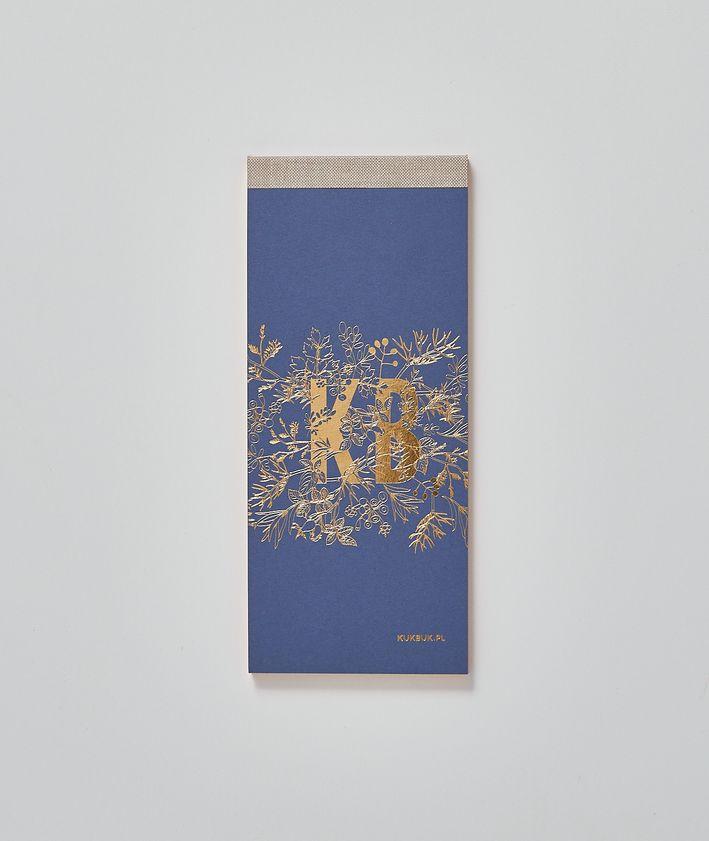 Nowy planer notes KUKBUK-a doskonały do planowania, organizowania kolor granatowy okładka