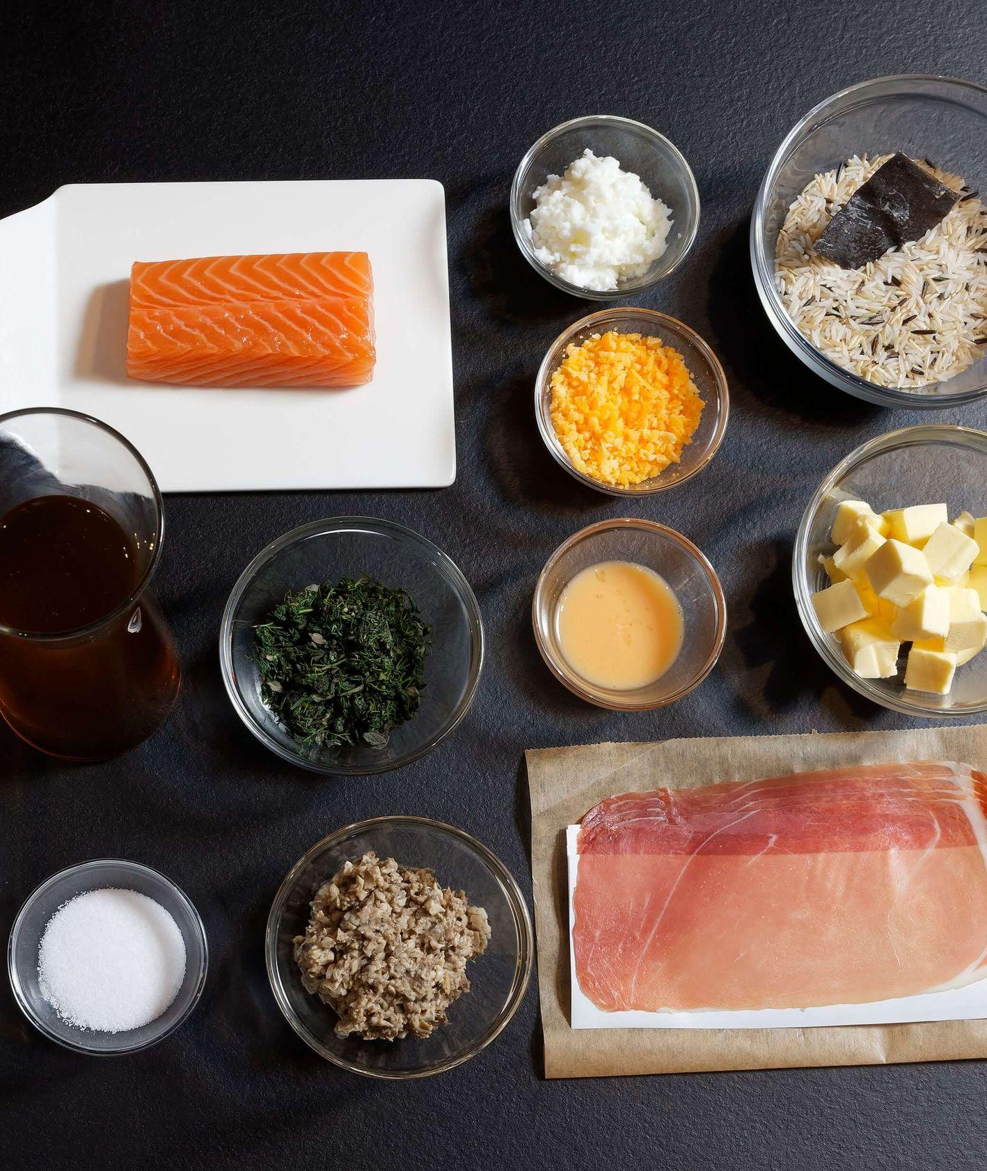 Składniki na kulebiak (fot. materiały promocyjne)