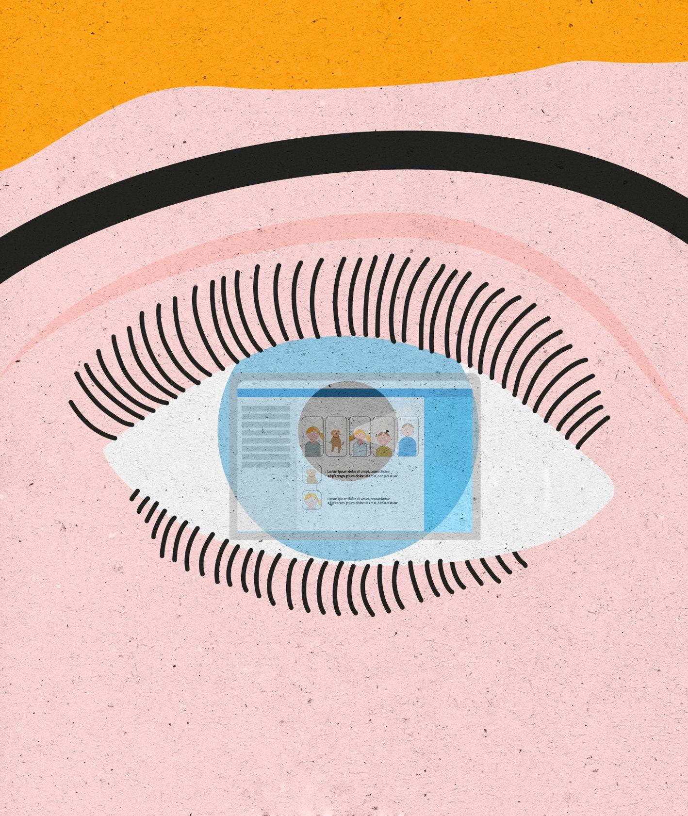 Oko w którym widać odbicie komputera. (il. Marcin Lewandowski)