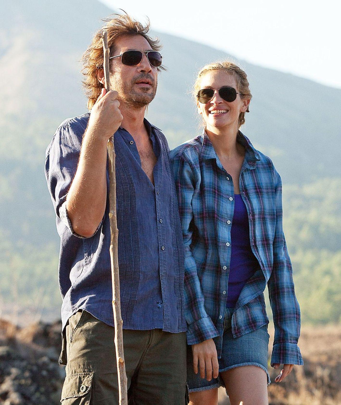 Javier Bardem i Julia Roberts na tle gór