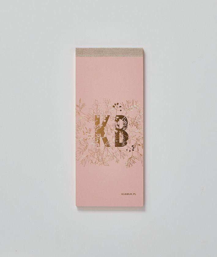 KUKBUK-owy organizer idealny do planowania ze złoconymi brzegami, okładka, pudrowy róż