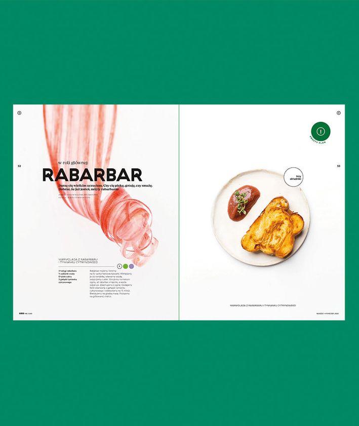 Rozkłady z magazynu KUKBUK 44/2020 Całe szczęście, produkty sezonowe, sezonówki, rabarbar