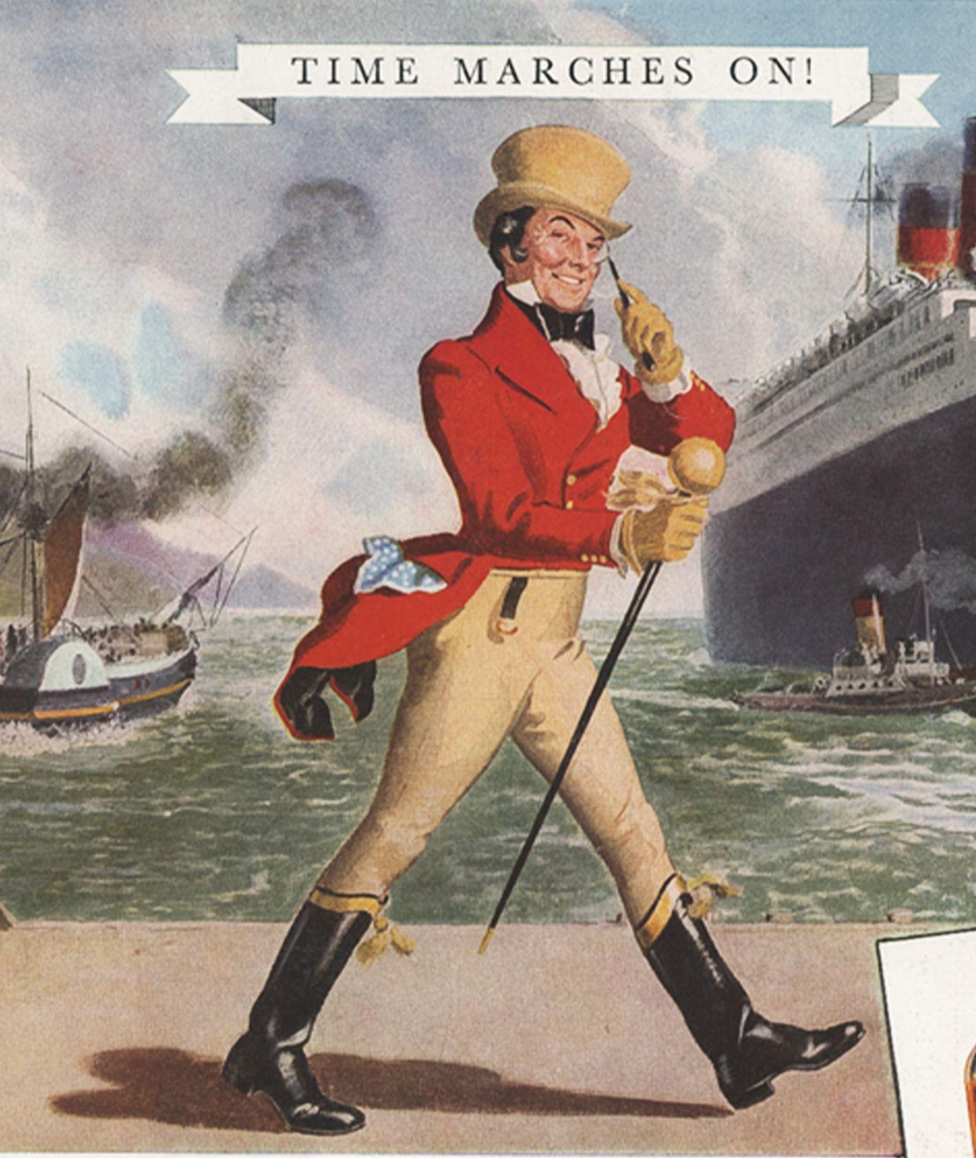 Historyczny plakat marki Johnny Walker (fot. materiały prasowe)