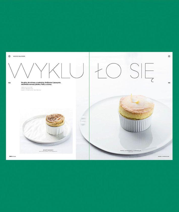 Rozkłady z magazynu KUKBUK 44/2020 Całe szczęście, suflety, David Gaboriaud