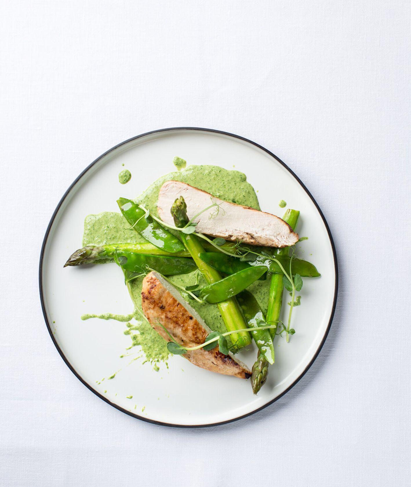 kurczak, zielony kurczak, przepis na wielkanoc, soczysty kurczak