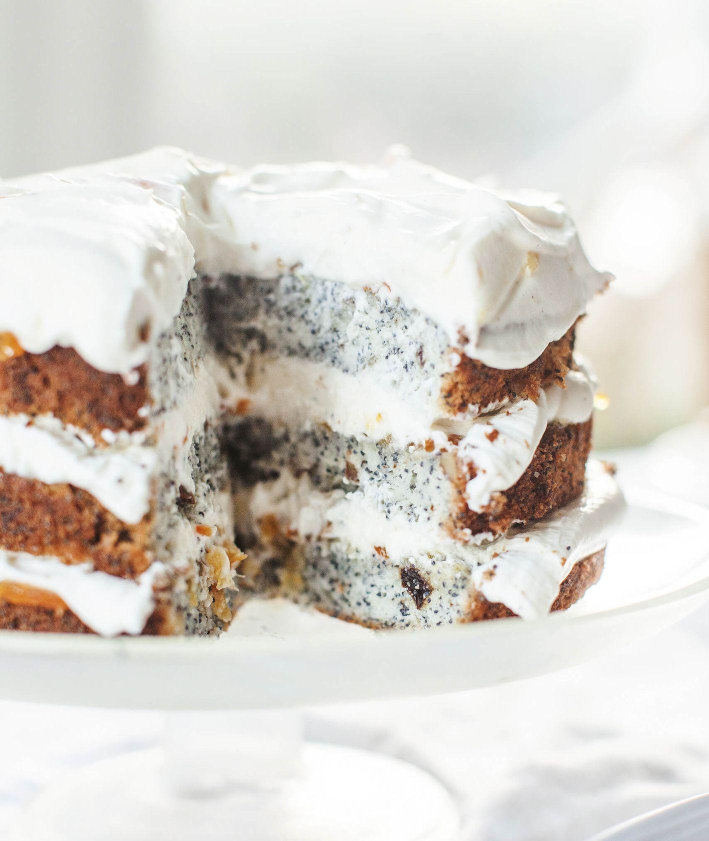Tort kutia na święta z konfiturą pomarańczową (fot. Monika Walecka)