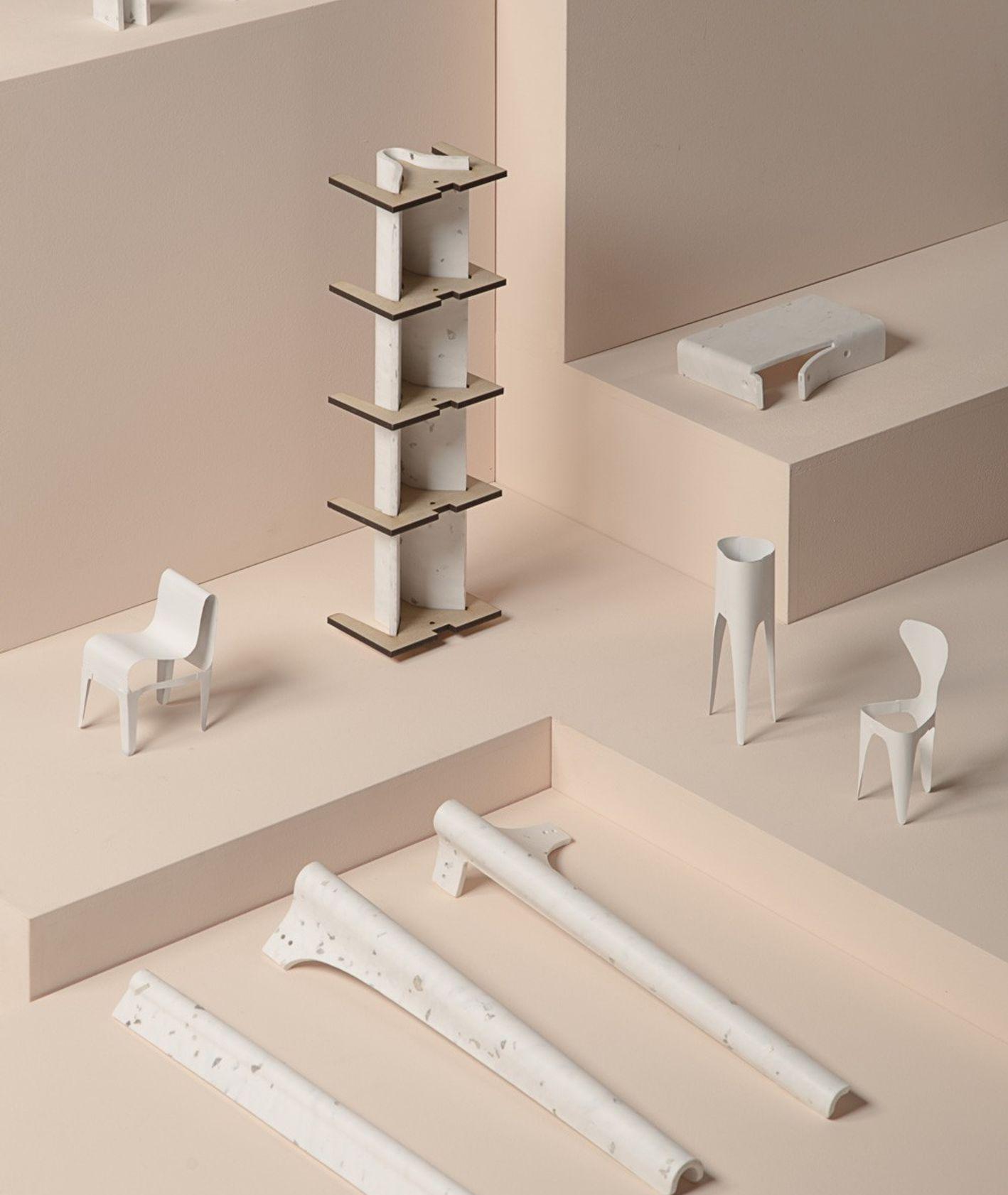 "Nagrodzone w konkursie GUILTLESSPLASTIC meble autorstwa Alexandra Schul, projekt ""Substantial Furniture Line"" (fot.materiały prasowe)"